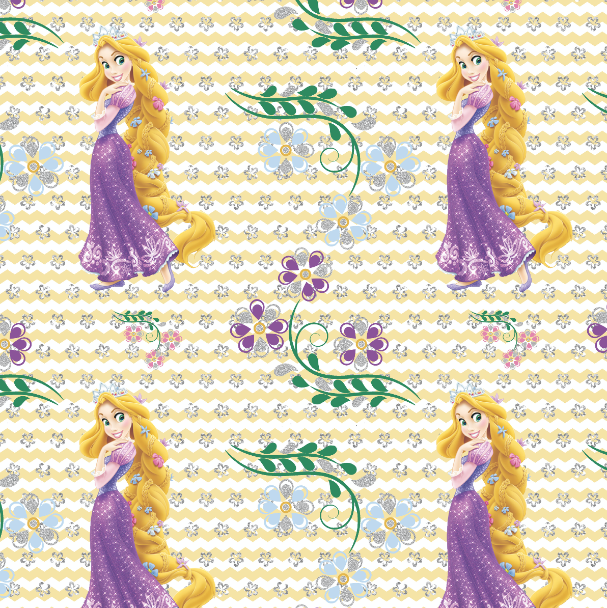 PRE ORDER - Rapunzel 2 Yellow - Digital Fabric Print