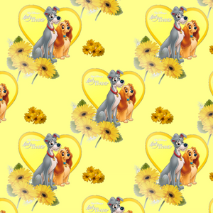 PRE ORDER - Lady & The Tramp Yellow - Digital Fabric Print