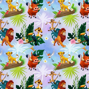 PRE ORDER - Simba Purple - Digital Fabric Print