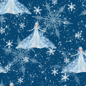 PRE ORDER - Frozen 2 Elsa Navy - Digital Fabric Print