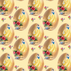 IN STOCK - Snow White Easter Golden Egg - WOVEN COTTON