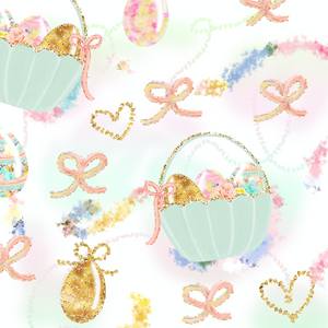 PRE ORDER - Sweet Pastel Easter Baskets - Digital Fabric Print