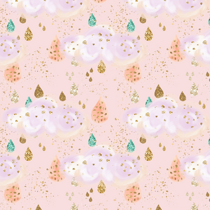 PRE ORDER - Whimsical Dreams Pink Clouds - Digital Fabric Print