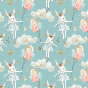 IN STOCK - Whimsical Dreams Blue - WOVEN COTTON