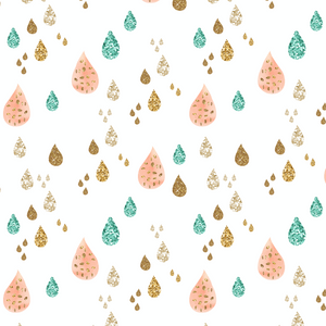 IN STOCK - Whimsical Dreams Raindrops - WOVEN COTTON