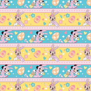 IN STOCK - Minnie Bunny Stripe - WOVEN COTTON