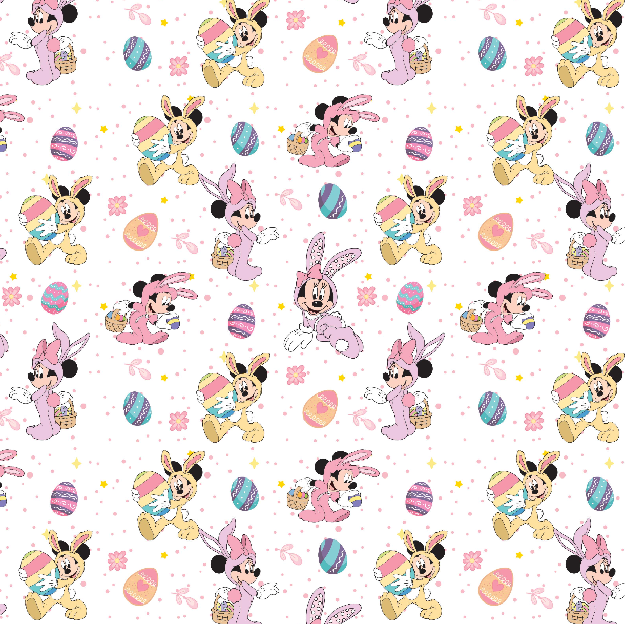 IN STOCK - Minnie Bunny White - COTTON LYCRA