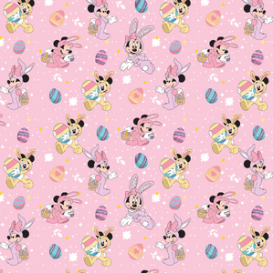 IN STOCK - Minnie Bunny Pink - COTTON LYCRA