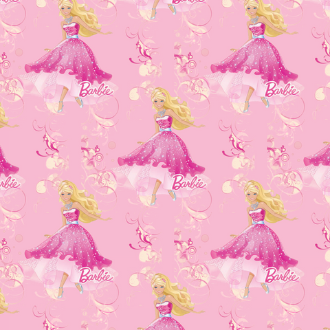 IN STOCK - Pink Princess Barbie - WOVEN COTTON