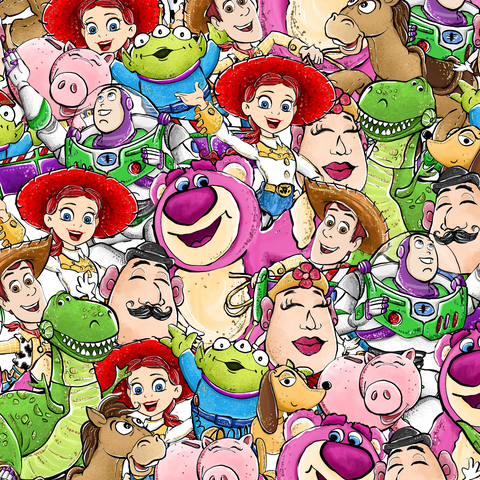 PRE ORDER - Toy Story Scattered - Digital Fabric Print