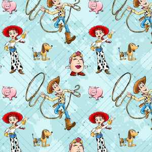 PRE ORDER - Toy Story Woody Blue - Digital Fabric Print