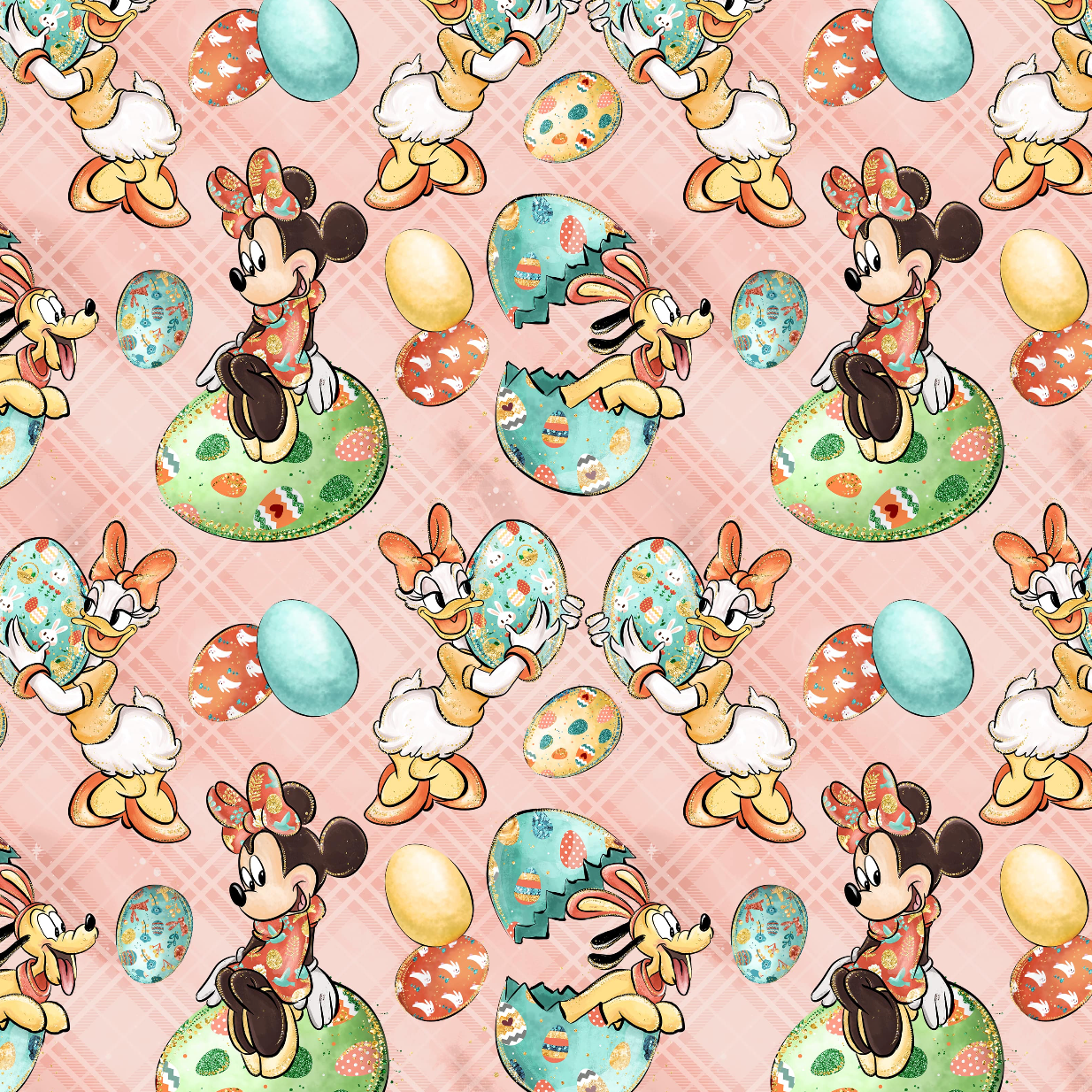 PRE ORDER - Minnie Easter Pink - Digital Fabric Print