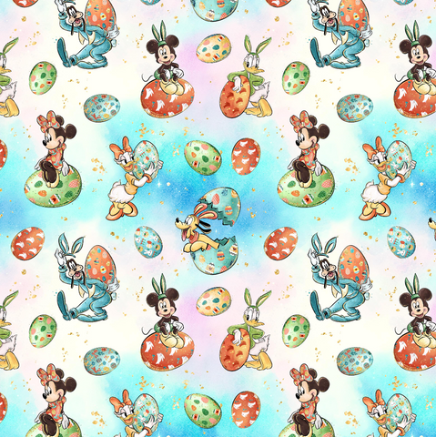 IN STOCK - Minnie Easter Blue - WOVEN COTTON