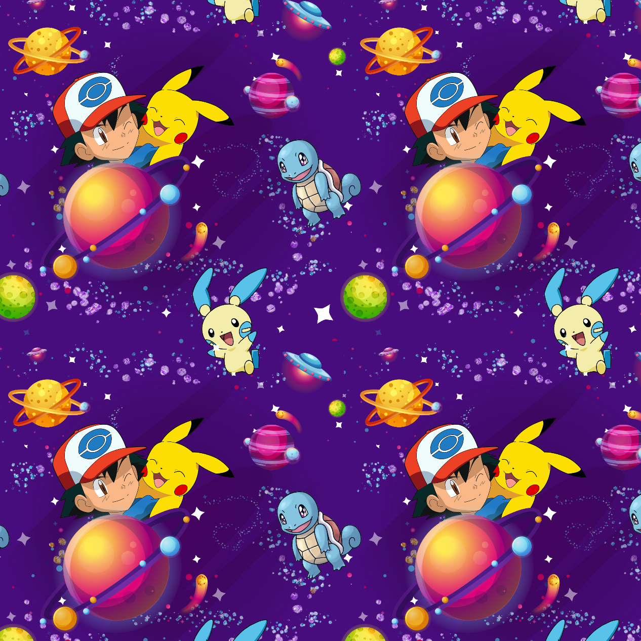 PRE ORDER - Pokemon Purple - Digital Fabric Print