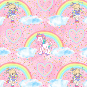 IN STOCK - Rainbow Brite - WOVEN COTTON