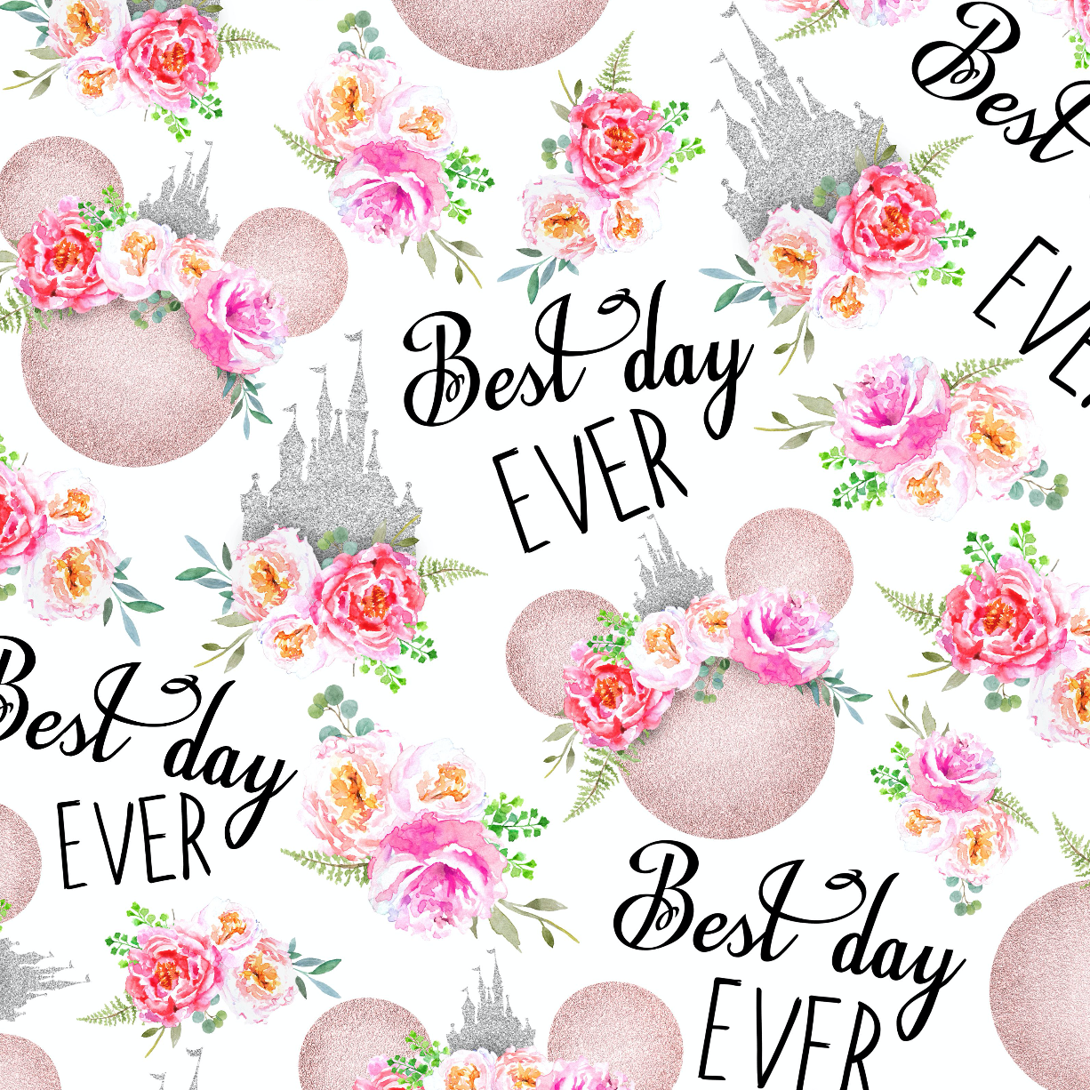 PRE ORDER - Best Day Ever Minnie Mouse - Digital Fabric Print