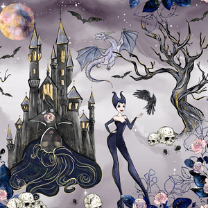 PRE ORDER - Maleficent Main - Digital Fabric Print