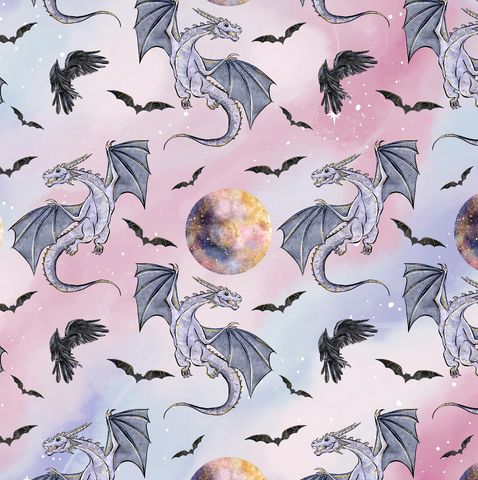 IN STOCK - Maleficent Dragons - COTTON LYCRA