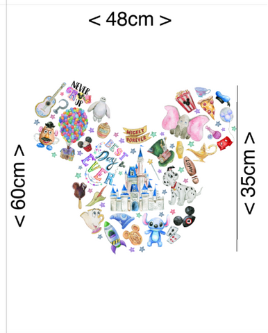 PRE ORDER - Minnie Mickey Mouse Ears Panel - Digital Fabric Print