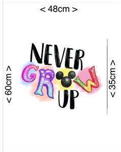PRE ORDER - Never Grow Up Panel - Digital Fabric Print