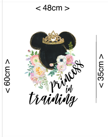 IN STOCK - Princess in Training Panel - COTTON LYCRA