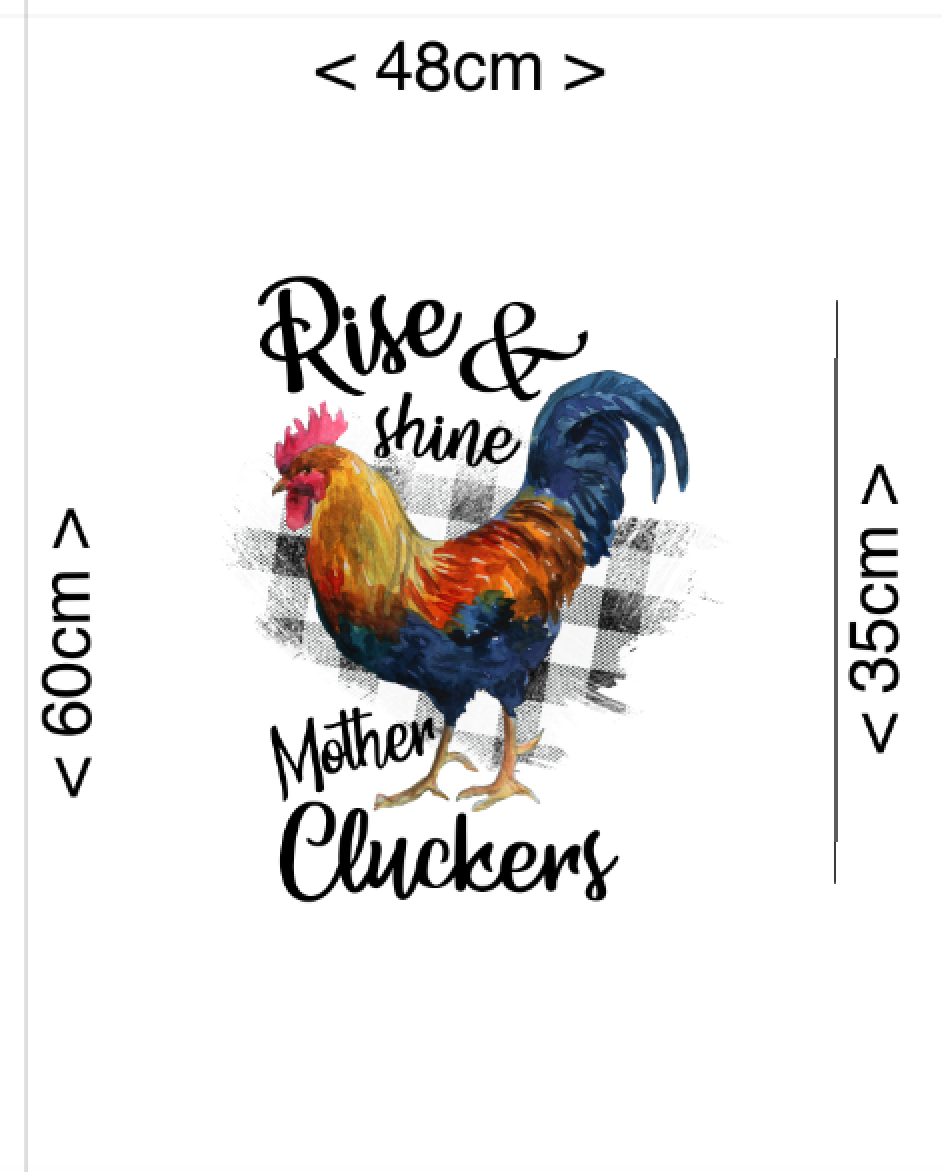 IN STOCK - Mother Cluckers Panel - Digital Fabric Print