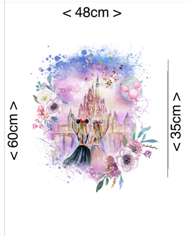 PRE ORDER - Disney Castle Panel - Digital Fabric Print