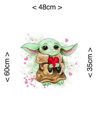 PRE ORDER - Yoda Panel - Digital Fabric Print
