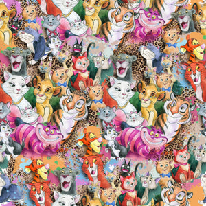 PRE ORDER - Famous Cats - Digital Fabric Print