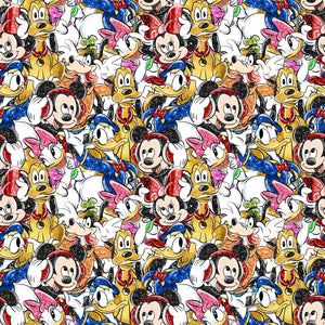 PRE ORDER - Mickey in the Sky Scattered - Digital Fabric Print