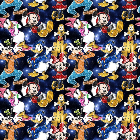 PRE ORDER - Mickey in the Sky Night - Digital Fabric Print