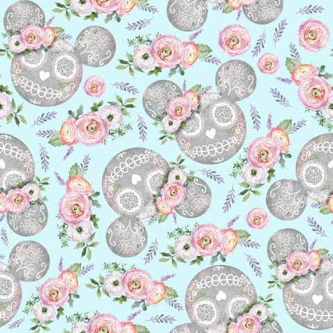 PRE ORDER - Minnie Halloween Blue  - Digital Fabric Print