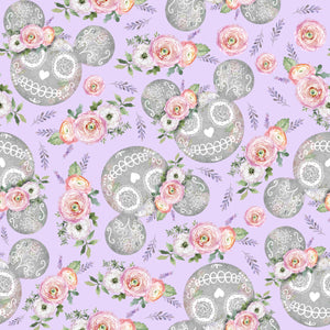 PRE ORDER - Minnie Halloween Purple - Digital Fabric Print