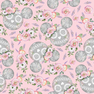 PRE ORDER - Minnie Halloween Pink - Digital Fabric Print