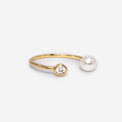 Pearl Open Ring