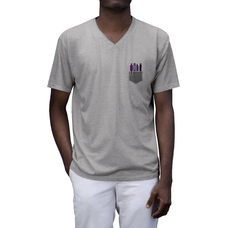 Swagged Out Nerds - Men's Tri-Blend V-Neck T-Shirt