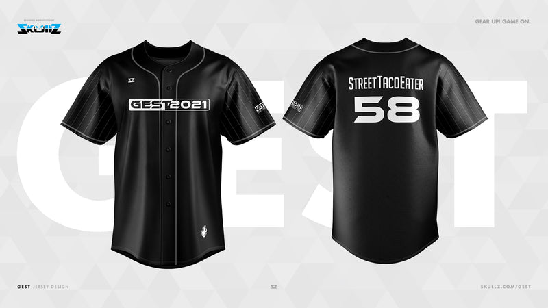 GEST - Skullz On-Demand Baseball Jersey
