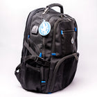 Skullz Laptop Backpack SGGBP01 with USB charger port and velcro front panel.