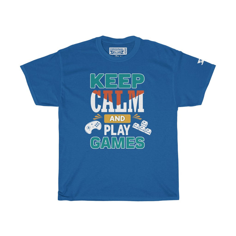 Keep Calm, Play Games - Unisex Heavy Cotton Tee