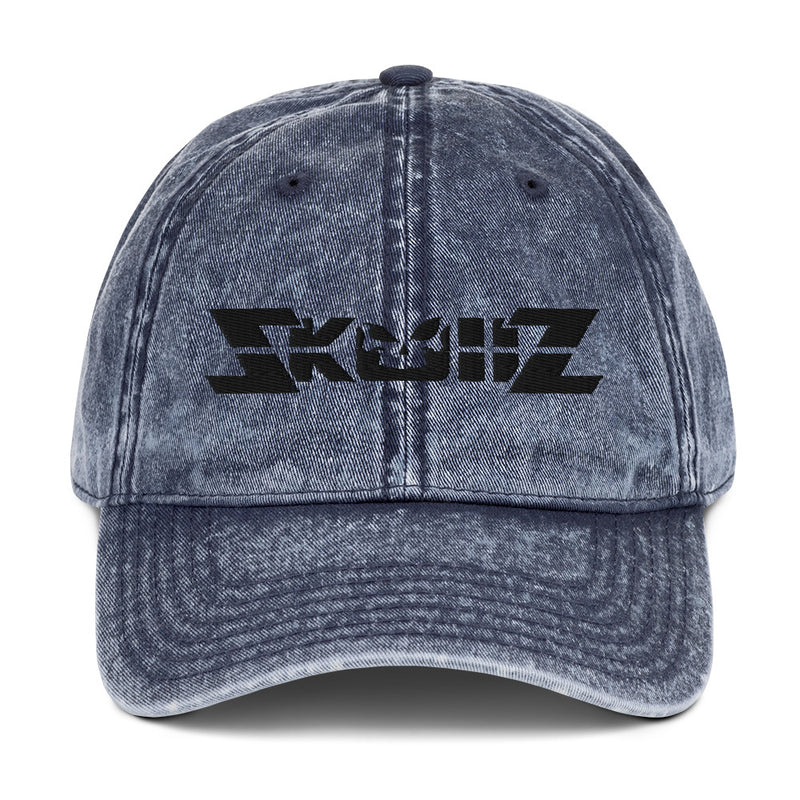 Skullz Vintage Cotton Twill Cap - Black Logo