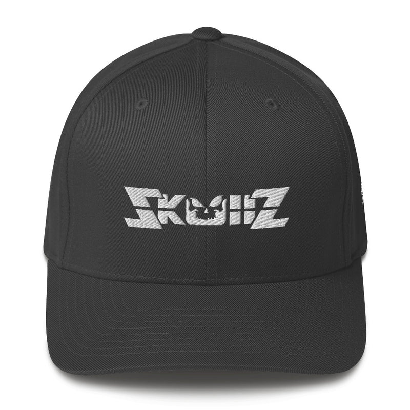 Skullz FlexFit Structured Twill Cap - White Logo