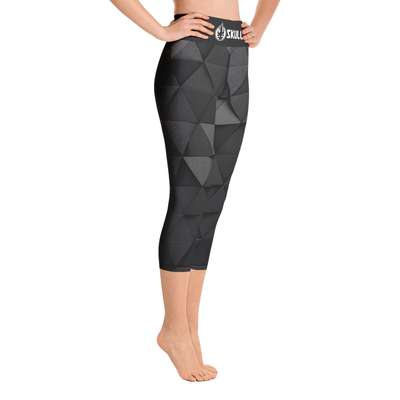 Skullz Logo Yoga Capri Leggings