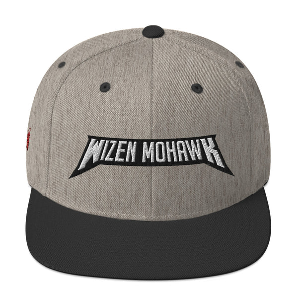 Wizen Mohawk - Snapback Hat - Heather w/black