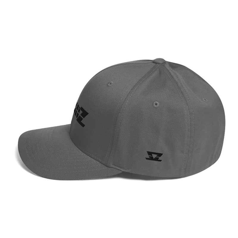 Skullz FlexFit Structured Twill Cap - Black Logo