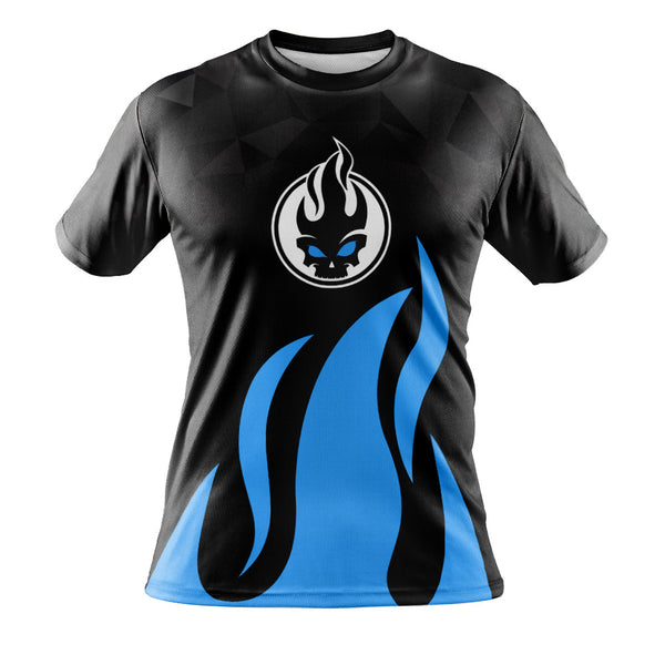 Skullz - Blue Flame T-Shirt Jersey