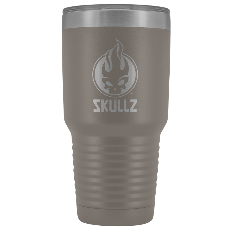 Skullz 30oz. stainless steel double-wall tumbler