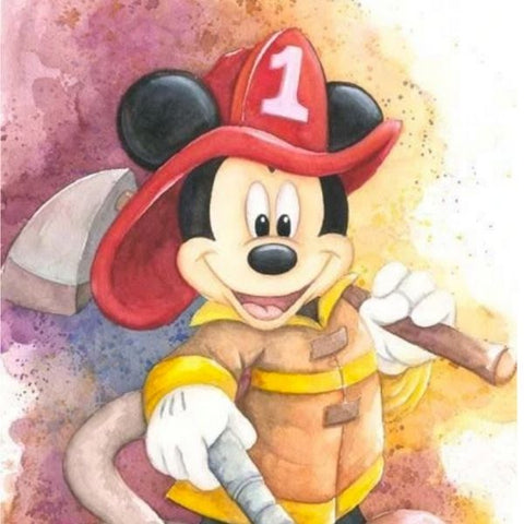 FIREMAN MICKEY by Michelle St Laurent