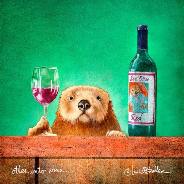 Otter Into Wine by Will Bullas