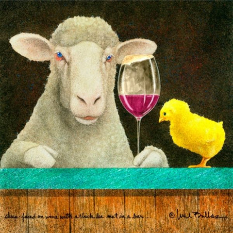 Sheep Faced on Wine with A Chick He Met In A Bar by Will Bullas