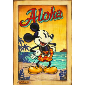 "WAVES OF ALOHA by Trevor Carlton - 32"" x 22"" Limited Edition"
